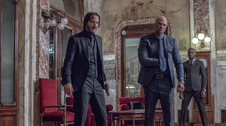 Common y Keanu Reeves en John Wick 2