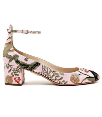 Aquazzura shoes for De Gourney collavoration