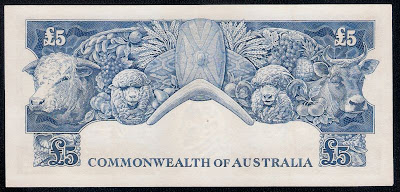 currency Australian five pound note
