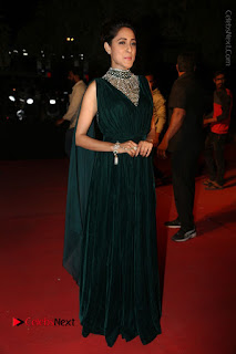 Actress Pragya Jaiswal Stills in Green Long Dress at Gemini TV Puraskaralu 2016 Event  0090.JPG