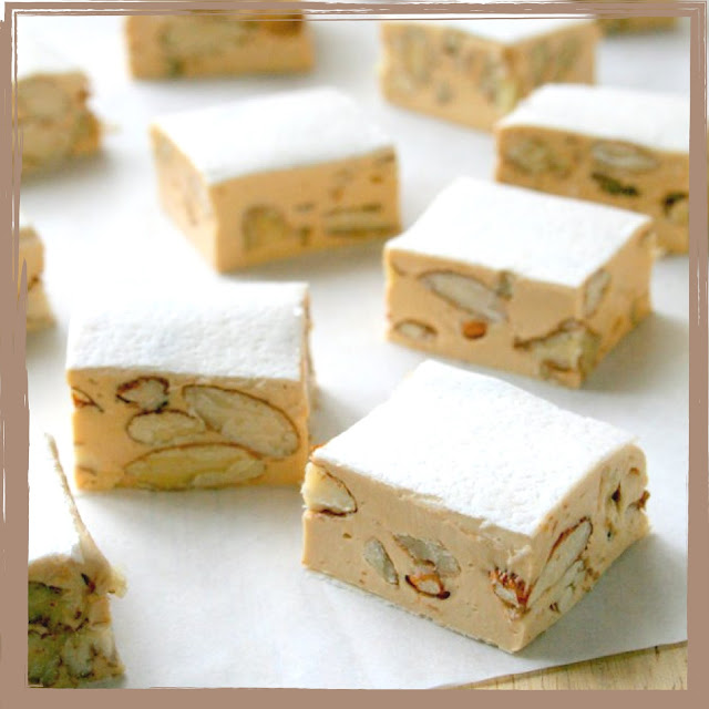 Pecan, almond and honey nougat.
