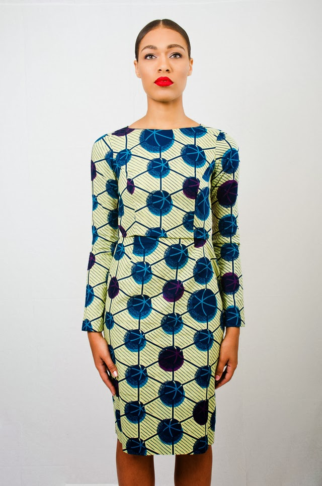 Asiyami Gold beautiful african print dresses on ciaafrique.com