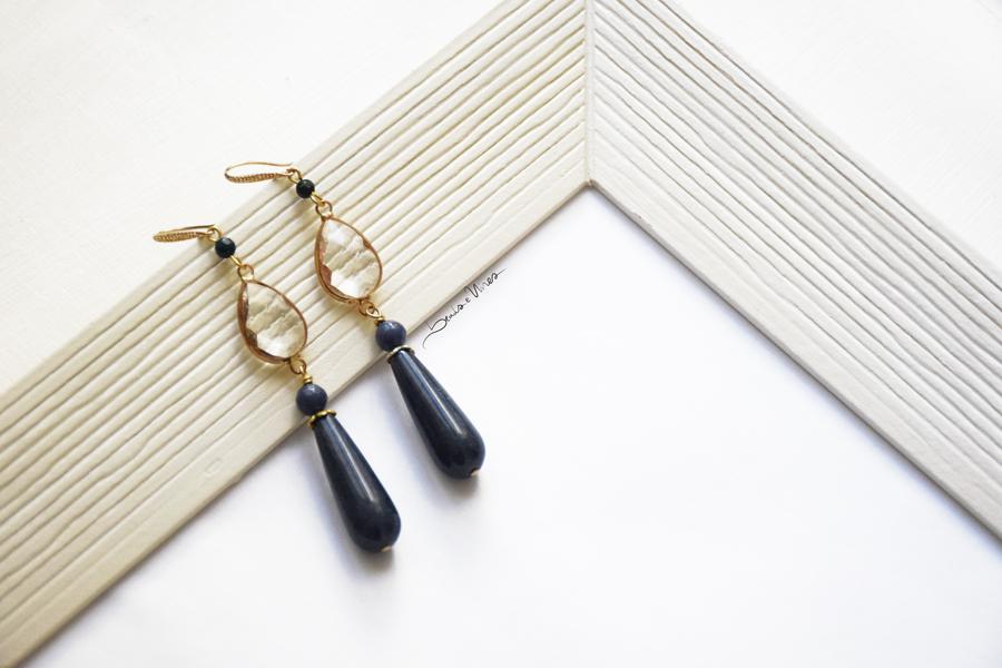 lapislazzuli blu orecchini goccia