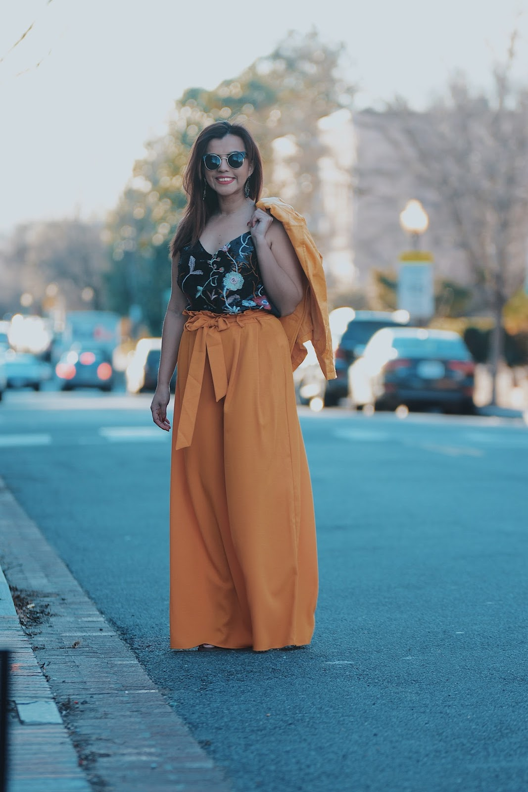 Mustard Yellow Outfit by MariEstilo-lookoftheday-streetstyle-yellowpants-shein-primavera-trendy-tendencias2018-fashionblogger-dcblogger