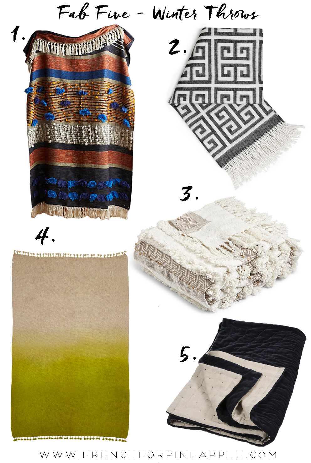 Fab Five Winter Throws - French For Pineapple Blog