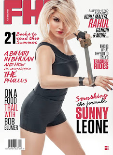 Sunny Leone as a blonde Cover of FHM India magazine May 2016 issue