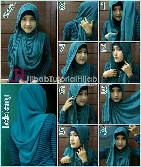 aku kembali membagikan beberapa tutorial cara menggunakan hijab pashmina yang style dan mode 5 Tutorial Style Hijab Pashmina yang Menutupi Bagian Dada