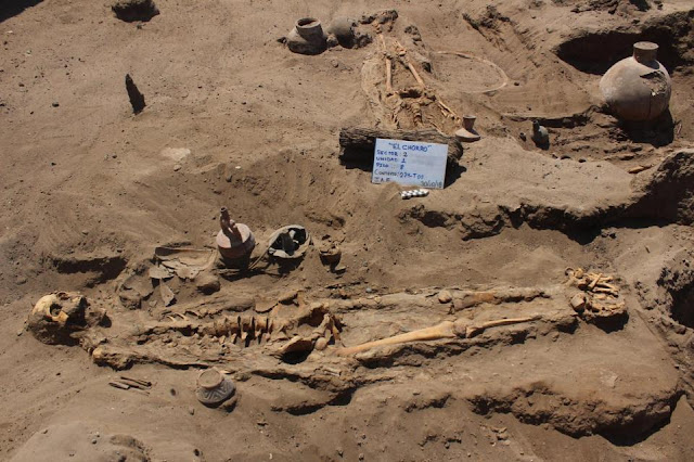 Cemetery with banquet area to honour dead discovered in Peru's El Chorro archaeological site
