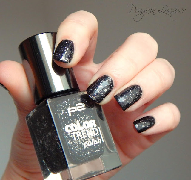 p2 colour trend polish 070 black glitter