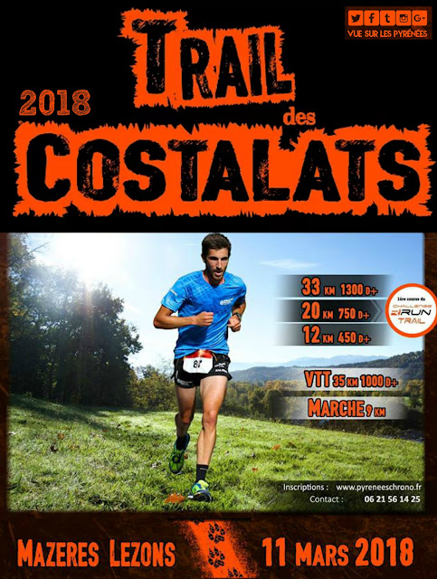 Trail des Costalats Mazères Lezons 2018