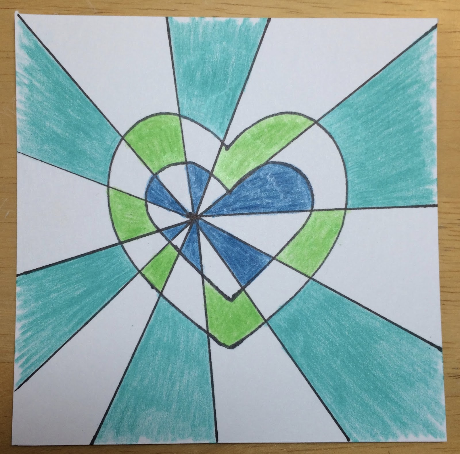 Kathys AngelNik Designs Art Project Ideas Double Heart Optical Illusion Lesson