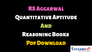RS Aggarwal Quantitative Aptitude and Reasoning Books Pdf Download