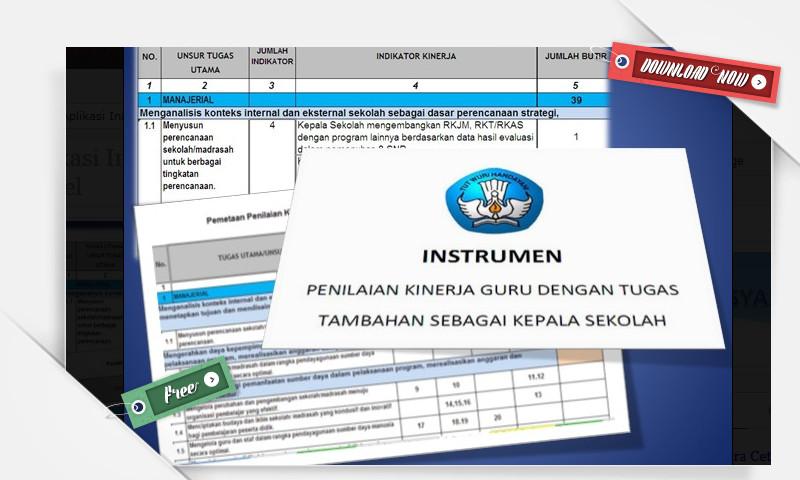 [.xls otomatis] Instrumen Supervisi Kepala Sekolah Terbaru Berupa Aplikasi Microsoft Excel Lebih Mudah Digunakan