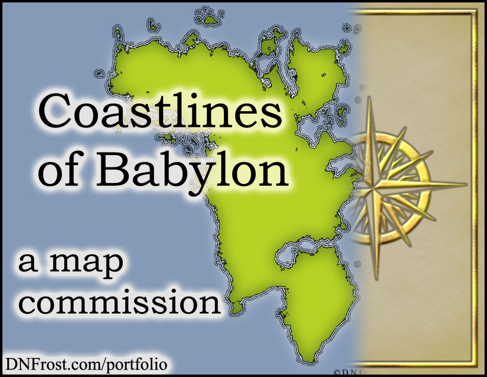 Coastlines of Babylon: continents and latitudes http://www.dnfrost.com/2015/04/sheridans-continents-map-commission.html A map commission by D.N.Frost for Stephen Everett @DNFrost13 Part 2 of a series.