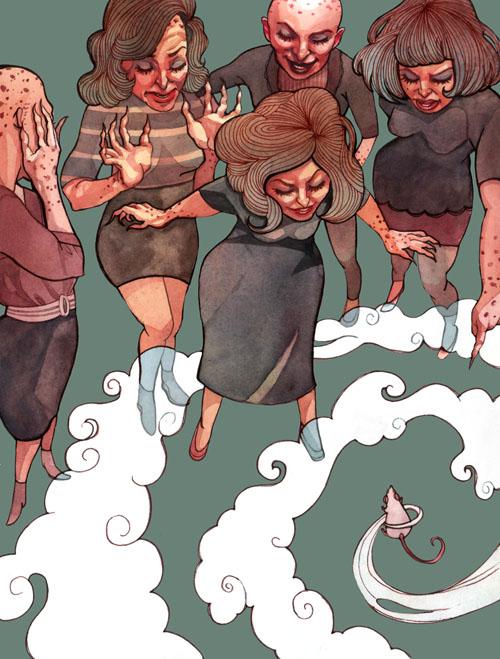 "Anna Lorraine Illustrations: The Witches: ""Voila, Boy ..."