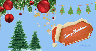 Free simple Merry Christmas greetings Live images