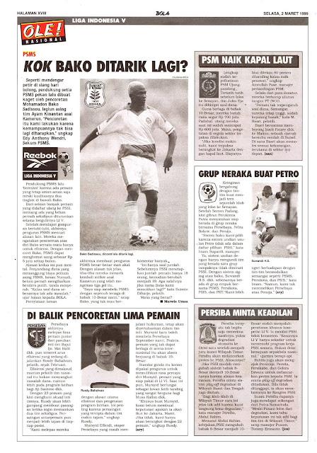 LIGA INDONESIA V: PSMS MEDAN BAKO SADISSOU