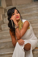 Actress Ishita Latest Stills in White Long Dress at Ippatlo Ramudila Seethala Evaruntaarandi Babu movie Audio Launch  010.jpg