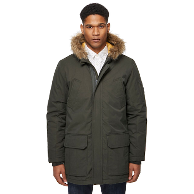 Ben Sherman fux fur trim parka