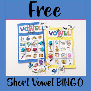 Short Vowel Bingo Literacy Center