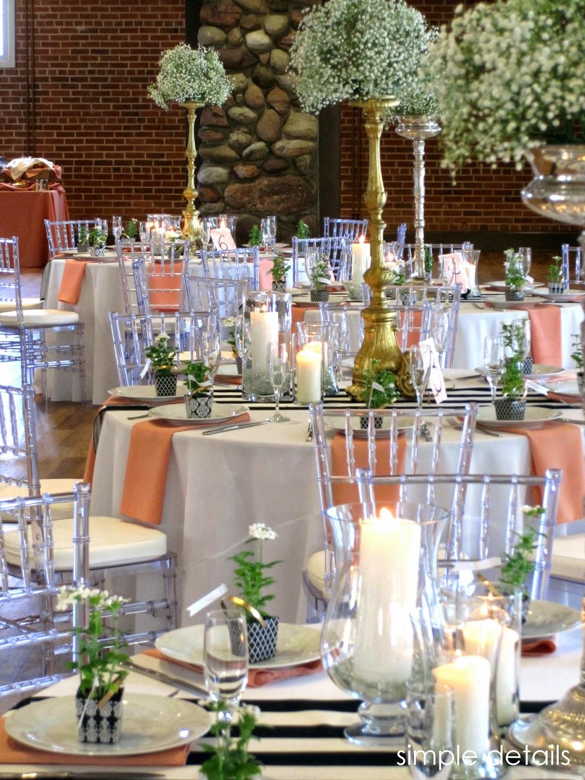 Simple Details A Pretty Peach Wedding