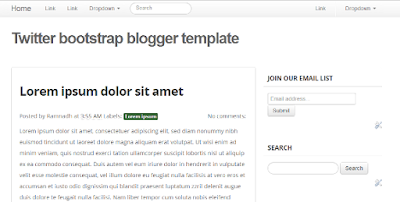 Twitter Bootstrap Blogger Template