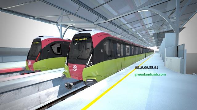 """""""Hình ảnh mô phỏng tuyến đường sắt trên cao của dự án Vincity Sportia"""""""
