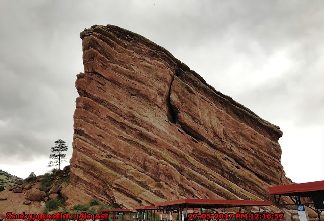 Red Rocks Amphitheater sandstone monoliths
