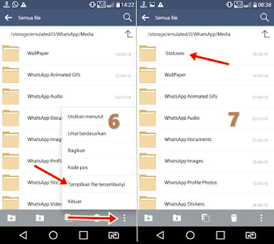 Menyimpan video dan foto dari status wa tanpa aplikasi