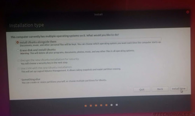 instalar ubuntu en dual boot