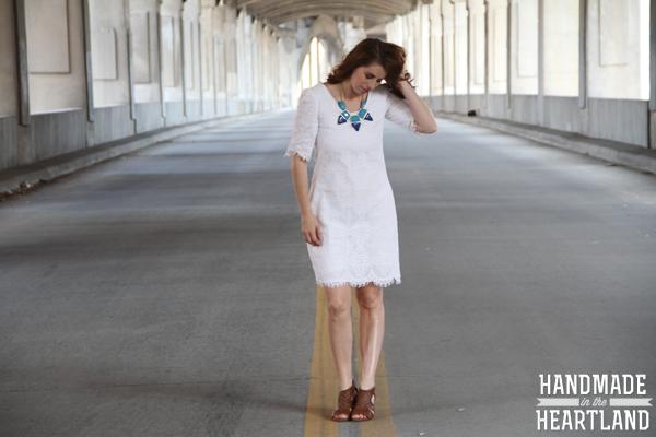 White Lace Handmade Dress