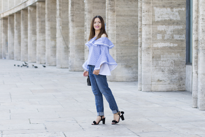 how to wear an off the shoulder blouse