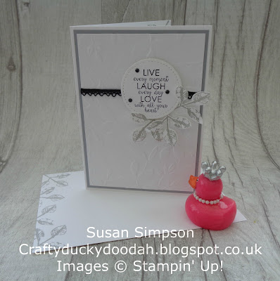 Craftyduckydoodah!, November Customer Thank You Cards, painted Harvest, Ribbon of Courage, Stampin' Up! UK Independent  Demonstrator Susan Simpson, Supplies available 24/7 from my online store,