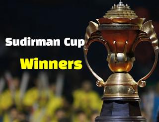 badminton, bwf, sudirman cup, winning, champions, winners, teams, list