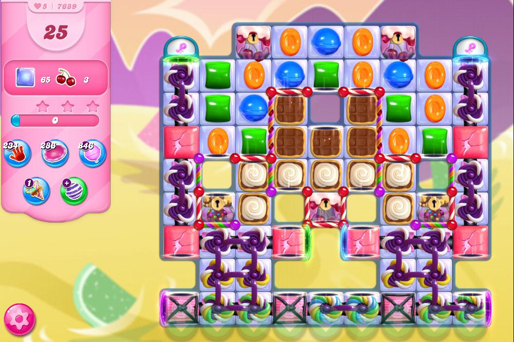 Candy Crush Saga level 7689