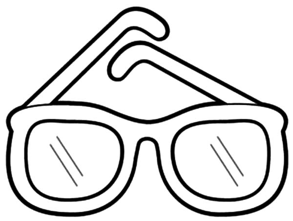 Sunglasses Coloring Page Template Sketch Coloring Page