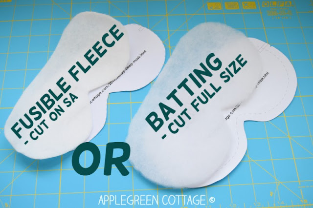 sewing tip for diy sleep mask