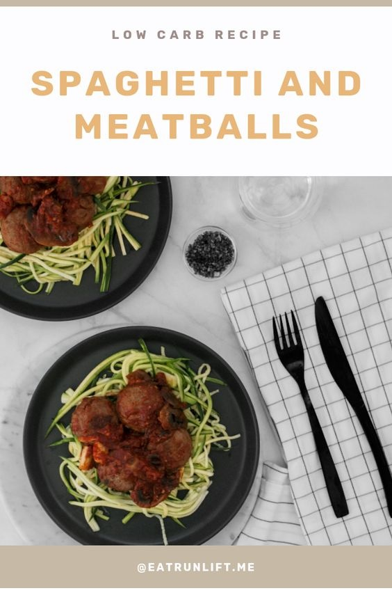 Lower Carb Spaghetti & Meatballs