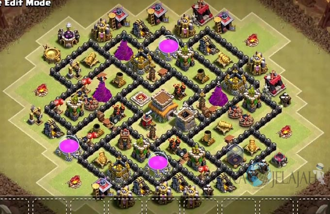 Base War TH 8 di Clash Of Clans Terbaru 2017 Tipe 7