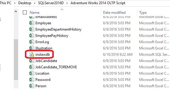 HodentekMSSS: Install AdventureWorks2014 OLTP DB Sample on