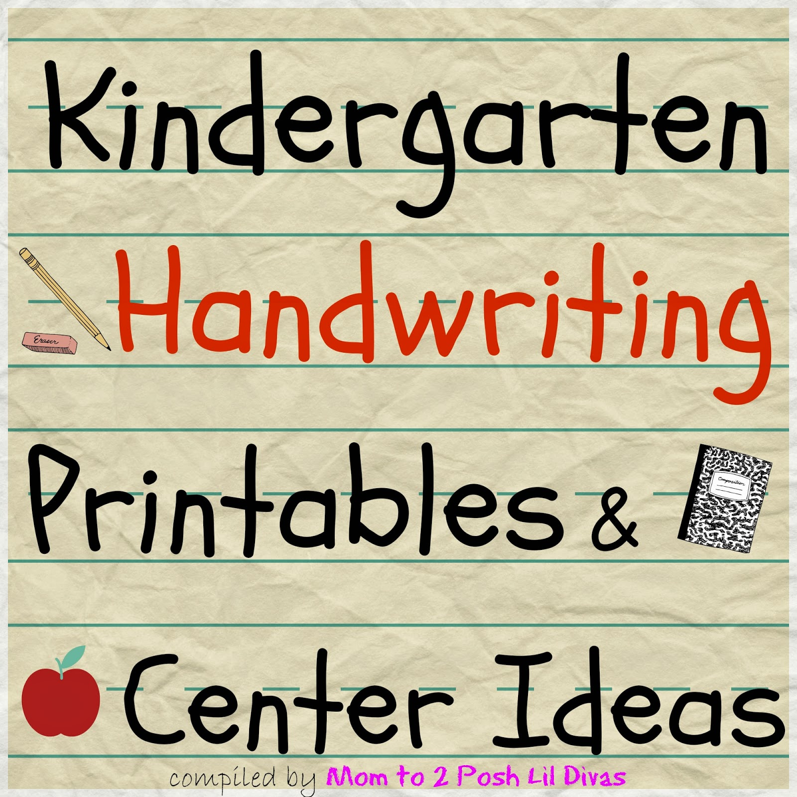 Kindergarten Handwriting Practice Activities And Centers