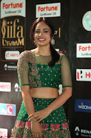Nandita Swetha in a tight Green Choli Ghagra at IIFA Utsavam Awards March 2017 ~ 054.JPG
