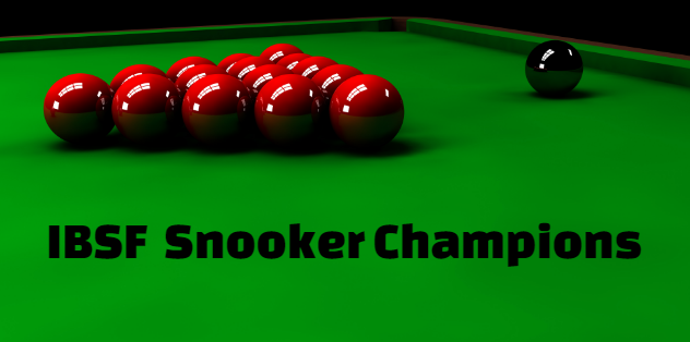 IBSF World Snooker Championship men's,  past winners-champions , history, results.