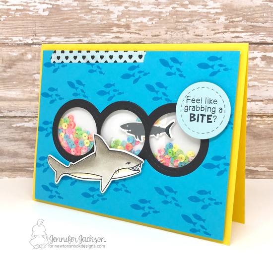 Newton's Nook Designs & Studio Katia Co-Hop! Shark Bites stamp set by Newton's Nook Designs #newtonsnook