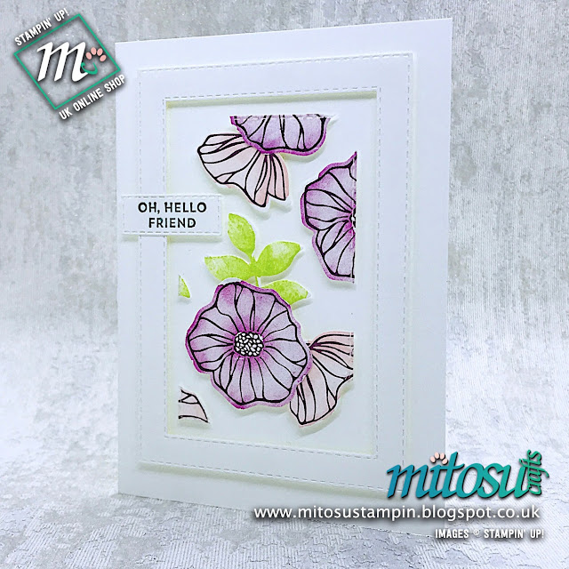 Oh So Eclectic Stampin' Up! Floating Frame Technique Card Idea. Order cardmaking products from Mitosu Crafts UK online shop 24/7