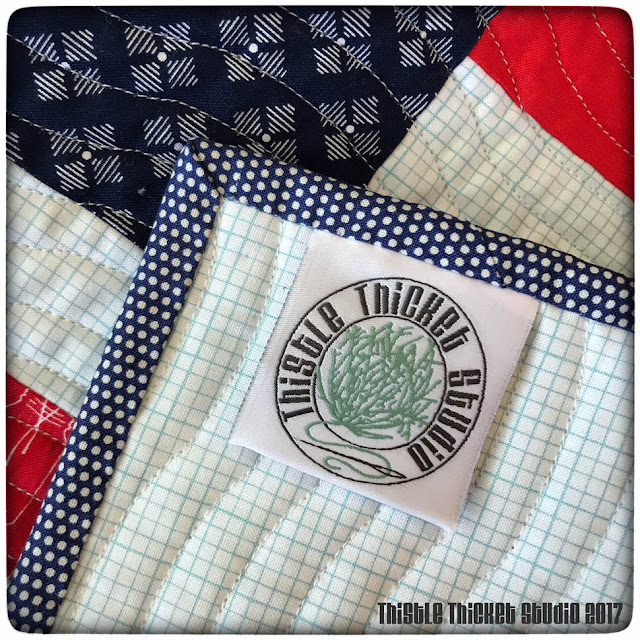 Custom Woven Labels For Thistle Thicket Studio made by Custom Labels 4 U. www.thistlethicketstudio.com