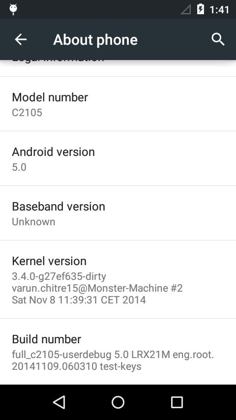 Xperia L Sanggup Android Lollipop 2
