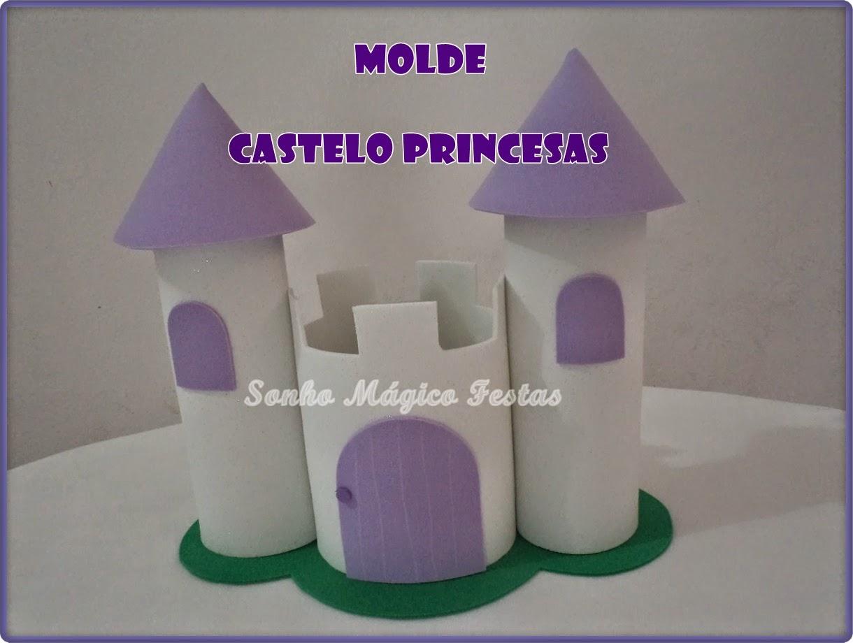 Molde Castelo De Princesa Feito De Eva Com Caixa De