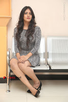Actress Chandini Chowdary Pos in Short Dress at Howrah Bridge Movie Press Meet  0165.JPG