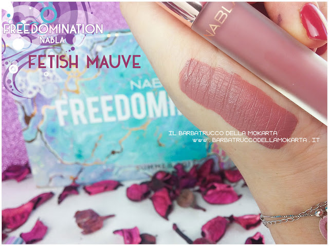 fetish mauve nabla cosmetics swatches freedomination collection summer lipstick dreamy matte